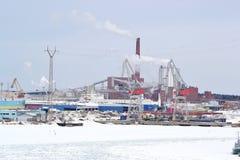 Paysage industriel dans Kotka photo libre de droits