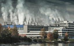 Paysage industriel modifié la tonalité foncé, Skogn Images libres de droits