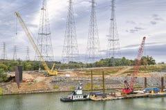 Paysage industriel sur la rivière de Tennesse Image stock