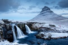 Paysage islandais étonnant photos libres de droits