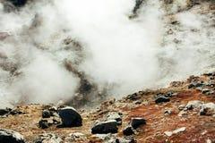 Paysage islandais, hotspring dans Landmannalaugar Images libres de droits