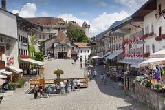 Paysage italien d'été de Mont Blanc de côté Mont Blanc est le sommet le plus élevé des Alpes occidentaux européens photos stock