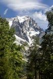 Paysage italien d'été de Mont Blanc de côté Mont Blanc est le sommet le plus élevé des Alpes occidentaux européens Photographie stock