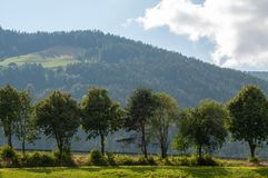 Paysage italien d'Alpes photo stock