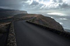 Paysage jaune canari de Lanzarote photographie stock libre de droits