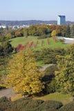 Paysage jaune de ville Photographie stock libre de droits