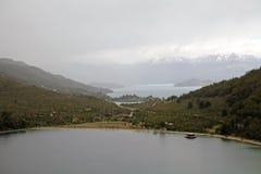 Paysage le long du Carretera austral, Patagonia, Chili Photos stock