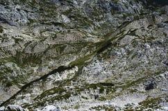 Paysage lunaire dans les montagnes II , résumé, Julian Alps Photographie stock libre de droits