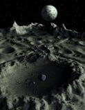 Paysage lunaire de cratères lunaires illustration libre de droits