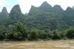 Paysage magnifique de montagne à Guilin Chine Image stock