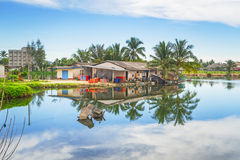 Paysage marécageux de village dans le coup Muang Photographie stock libre de droits