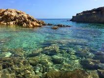 Paysage marin à Cala Zaffiro Sicile Italie Images stock