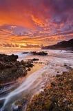 Paysage marin à la verticale de sunsire Photographie stock