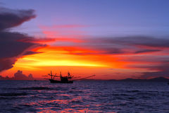 Paysage marin à Pattaya images libres de droits