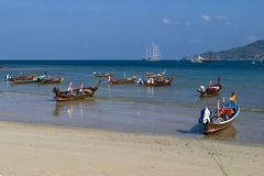 Paysage marin à phuket Thaïlande du sud image stock