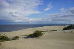 Paysage marin abandonné sur la mer baltique Photographie stock