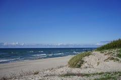 Paysage marin abandonné sur la mer baltique Images stock