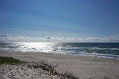 Paysage marin abandonné sur la mer baltique Photos stock