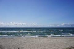 Paysage marin abandonné sur la mer baltique Photo libre de droits