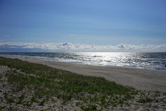 Paysage marin abandonné sur la mer baltique Images libres de droits