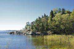 Paysage marin, archipel de Stockholm Image stock