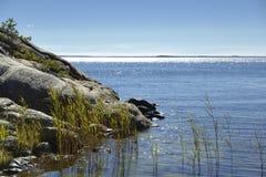 Paysage marin, archipel de Stockholm Image libre de droits