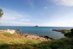 Paysage marin au point de vue d'île de Samed, Thaïlande photographie stock