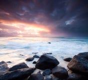 Paysage marin australien pendant le crépuscule Images stock