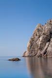 Paysage marin avec des Mountain View Images stock