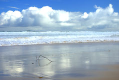 Paysage marin avec des nuages Image stock