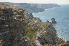 Paysage marin avec des roches Images libres de droits