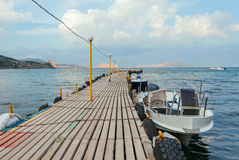 Paysage marin avec le pilier Photos stock