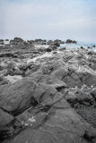 Paysage marin bleu Photo libre de droits