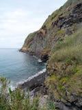 Paysage marin Caloura, Agua De Pau Images stock