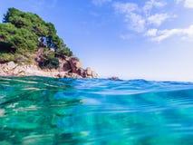 Paysage marin chez Costa Brava, Catalogne Photos libres de droits