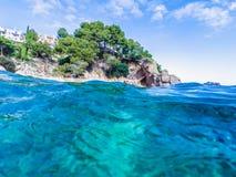 Paysage marin chez Costa Brava, Catalogne Photographie stock libre de droits