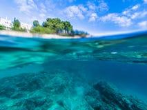Paysage marin chez Costa Brava, Catalogne Images libres de droits