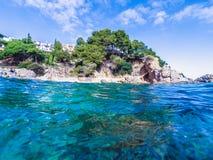 Paysage marin chez Costa Brava, Catalogne Photo stock