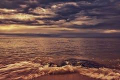 Paysage marin coloré Photographie stock libre de droits