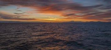 Paysage marin - coucher du soleil Photographie stock libre de droits