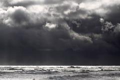 Paysage marin déprimé d'hiver photos stock