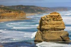 Paysage marin d'Australie de 12 Apostlesl Photos stock