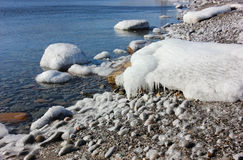 Paysage marin d'hiver Photographie stock