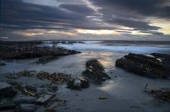 Paysage marin d'hiver Photo libre de droits