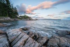 Paysage marin d'un phare Images libres de droits