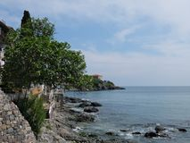 Paysage marin dans Sozopol Images libres de droits