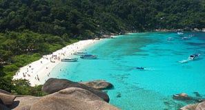 Paysage marin de beauté des îles de Similan Image libre de droits