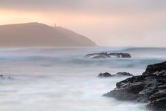 Paysage marin de Cornouailles de point de pas. Images stock