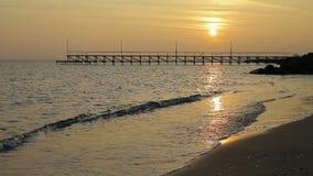 Paysage marin de coucher du soleil clips vidéos