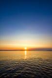 Paysage marin de crépuscule Photos libres de droits